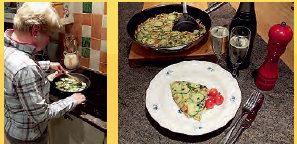 Mint & Courgette Frittata Recipe